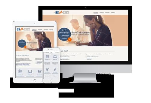 Webdesign für den BSW von Agentur mp2 | Werbeagentur Kassel