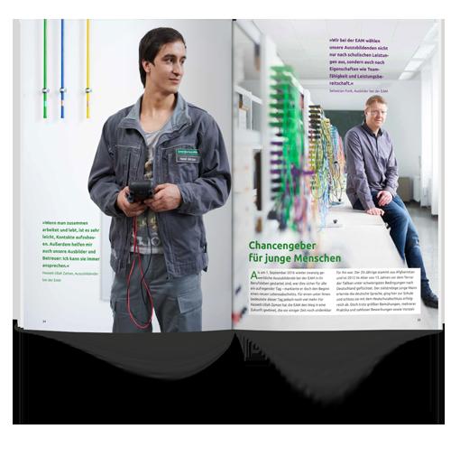 E-Book | Konzeption eines Geschäftsberichts für die EAM von Agentur mp2